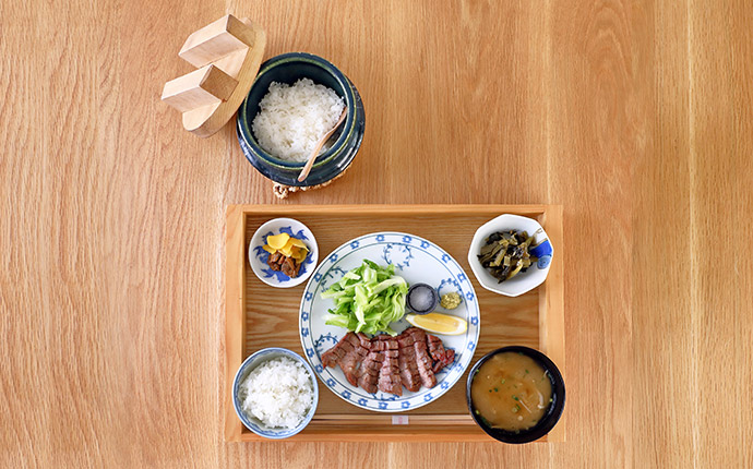 Thick cut beef tongue set meal